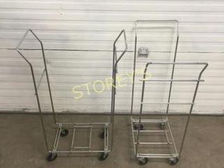 2 Mobile Coat Hanger Racks