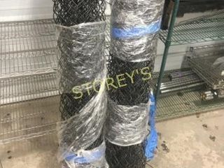 2 Rolls of Wire Fencing   Black