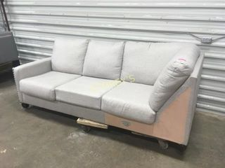 White   Grey Sectional end