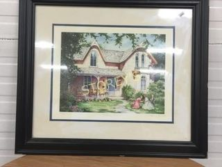 Garden House Picture   Framed