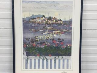 Sail Boat Framed Artwork