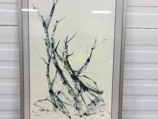 Abstract Framed Artwork