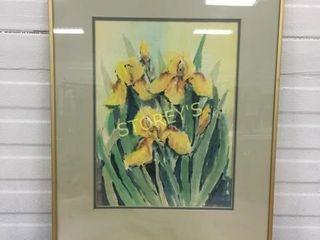 Framed Flower Picture