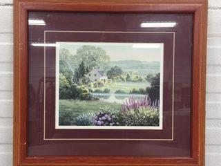 Framed Garden House Picture
