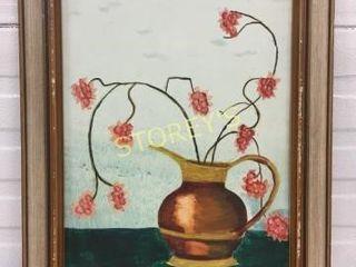 Framed Vase Picture