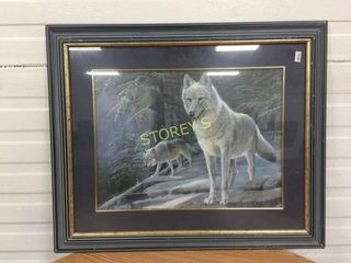 Wolf Framed Picture