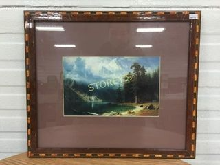 Framed Mountain Picture