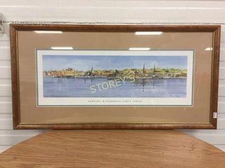 Framed Signed Harbour Picture