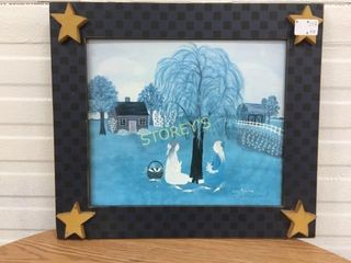 Star Framed Willow Tree Picture