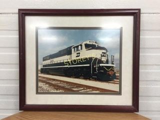 Framed Train Picture