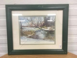 Signed River Winter Picture