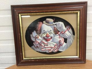 Framed Clown Picture