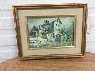 Framed Signed Oil Painting