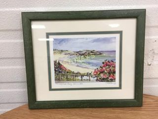Signed Beach Front Picture