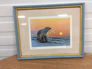 Signed Polar Bear Picture