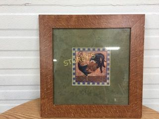 Framed Rooster Picture