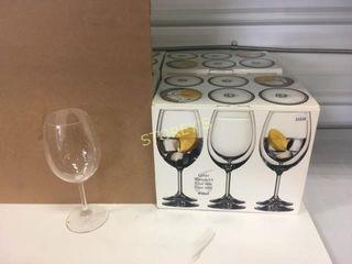 16 Wine Goblet Glasses w  Box