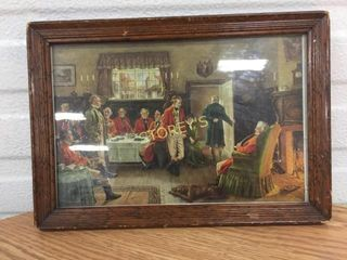 Framed English Picture