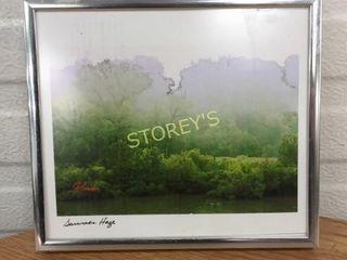Framed Signed River Bend Picture