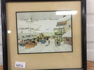 Sm  Framed Winter Picture