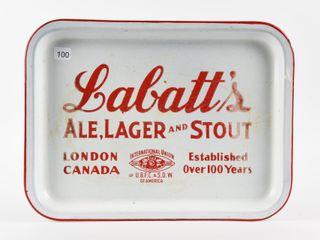 lABATT S AlE lAGER STOUT PORCElAIN BEER TRAY