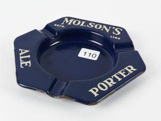MOlSON S AlE PORTER BEER PORCElAIN ASHTRAY
