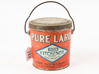 VINTAGE WHYTE PACKING CO  PURE lARD PAIl