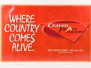 CRAVEN  A  TODAY COUNTRY COMES AlIVE D S POSTER