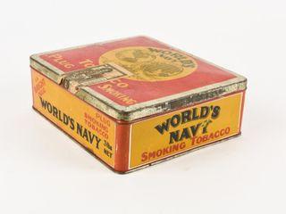 WORlD S NAVY PlUG SMOKING TOBACCO 3 lBS  lARGE BOX