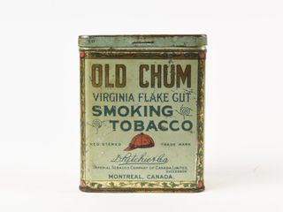 OlD CHUM SMOKING PIPE TOBACCO 1 2 lB  UPRIGHT CAN