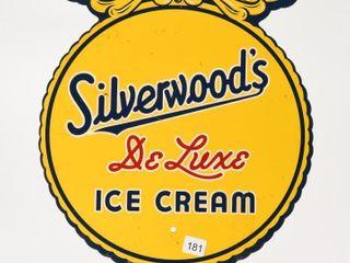 SIlVERWOOD S DElUXE ICE CREAM SSP DIECUT SIGN