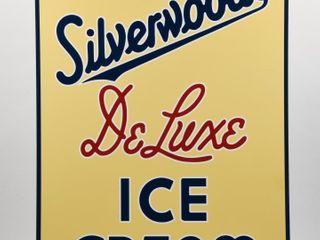 SIlVERWOOD DElUXE ICE CREAM S S lUMIlITE SIGN  NEW