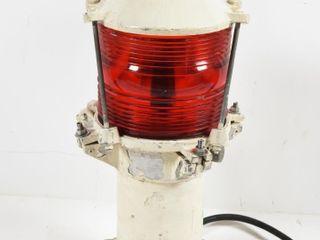 VINTAGE lIGHTHOUSE RED WARNING SIGNAl lIGHT