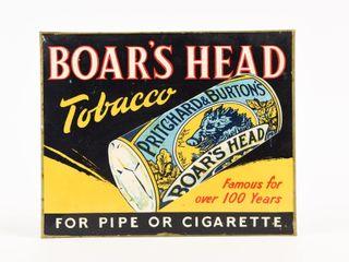 BOAR S HEAD FOR PIPE OR CIGARETTE TOBACCO SST SIGN