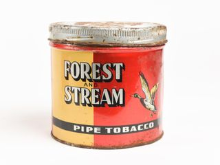 FOREST   STREAM PIPE TOBACCO CAN