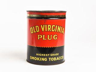 OlD VIRGINIA PlUG SMOKING TOBACCO CUTOFF CAN