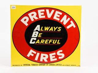 PREVENT FIRES ABC SST SIGN