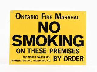 ONTARIO FIRE MARSHAl NO SMOKING SST SIGN   NOS