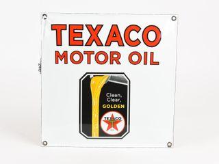 TEXACO SSP CONVEX SIGN   REPRO