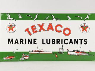 TEXACO MARINE lUBRICANTS S S METAl SIGN   NEW