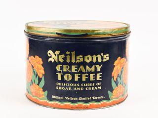 NEIlSON S CREAMY TOFFEE 15 lBS  TIN