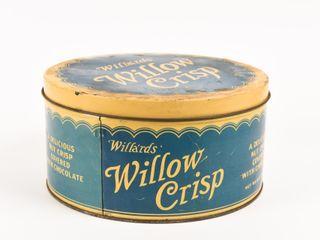 VINTAGE WIllA RDS WIllOW CRISP 10 lBS  TIN
