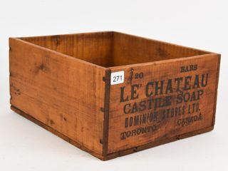 lE CHATEAU CASTITE SOAP WOODEN BOX