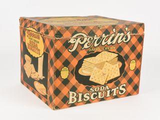 PERRINS DAIRY CREAM SODA BISCUITS CARDBOARD BOX