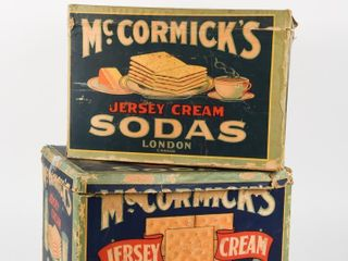 lOT OF 2 McCORMICK S JERSEY CREAM SODAS BOXES