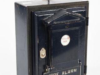 VINTAGE FIRE AlARM EMBOSSED MASTER BOX