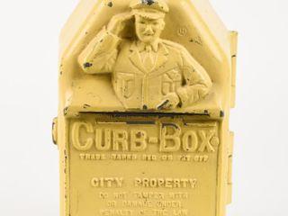 RARE 1940 S CURB BOX PARKING   FINE CAST AlUM  BOX