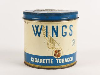 WINGS CIGARETTE TOBACCO 65 CENT 1 2 POUND CAN