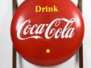1956 DRINK COCA COlA SSP 48  BUTTON   HANGER