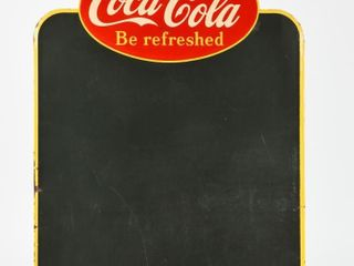 DRINK COCA COlA  BE REFRESHED  SST CHAlK BOARD